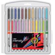 BIC Intensity Fashion Permanent Marker, Fine Point, Assorted Colors, 24 Count
