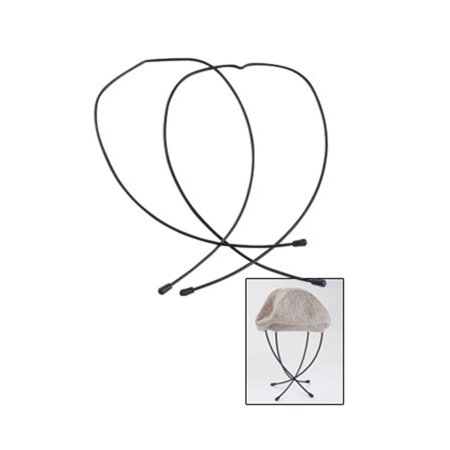 "Top Hat Collapsible (Wire Hat Display (Collapsible) - 11""H x 6""W - Black)"