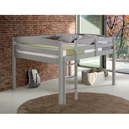 Concord Full Size Junior Loft Bed - Grey Finish