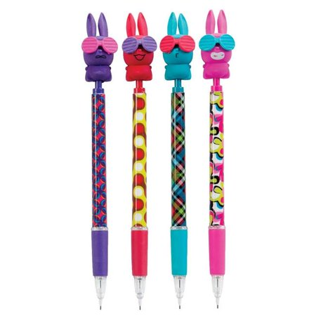 Funny Bunnies Mechanical Pencil with Scented Eraser Topper - Pack of 24 - Scented Erasers