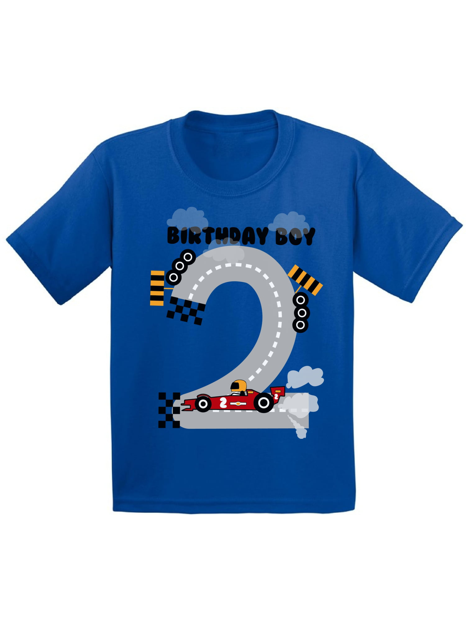 Awkward Styles Birthday Boy Race Car Toddler Shirt Party For Boys Funny Gifts 2 Year Old 2nd T Second