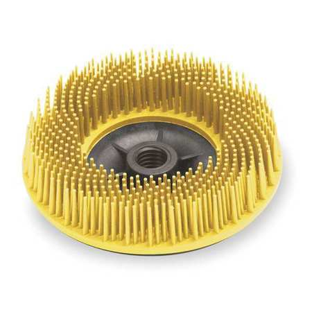 3M 24242 Bristle Disc, 4.5 In Dia, 3/4 In Trim, 80G