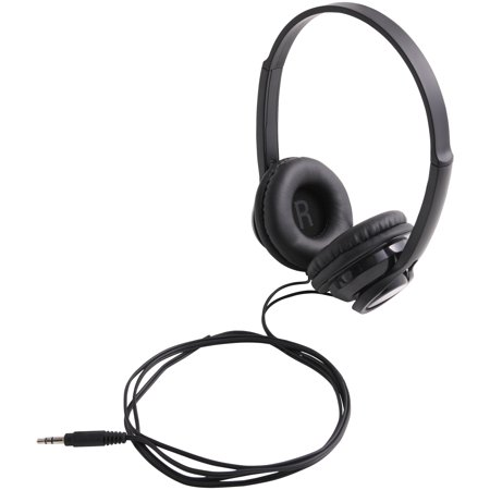 ONN On-Ear Headphones for Smartphones, Stereos and Computers, Versatile Design Black Portable Stereo Headphones