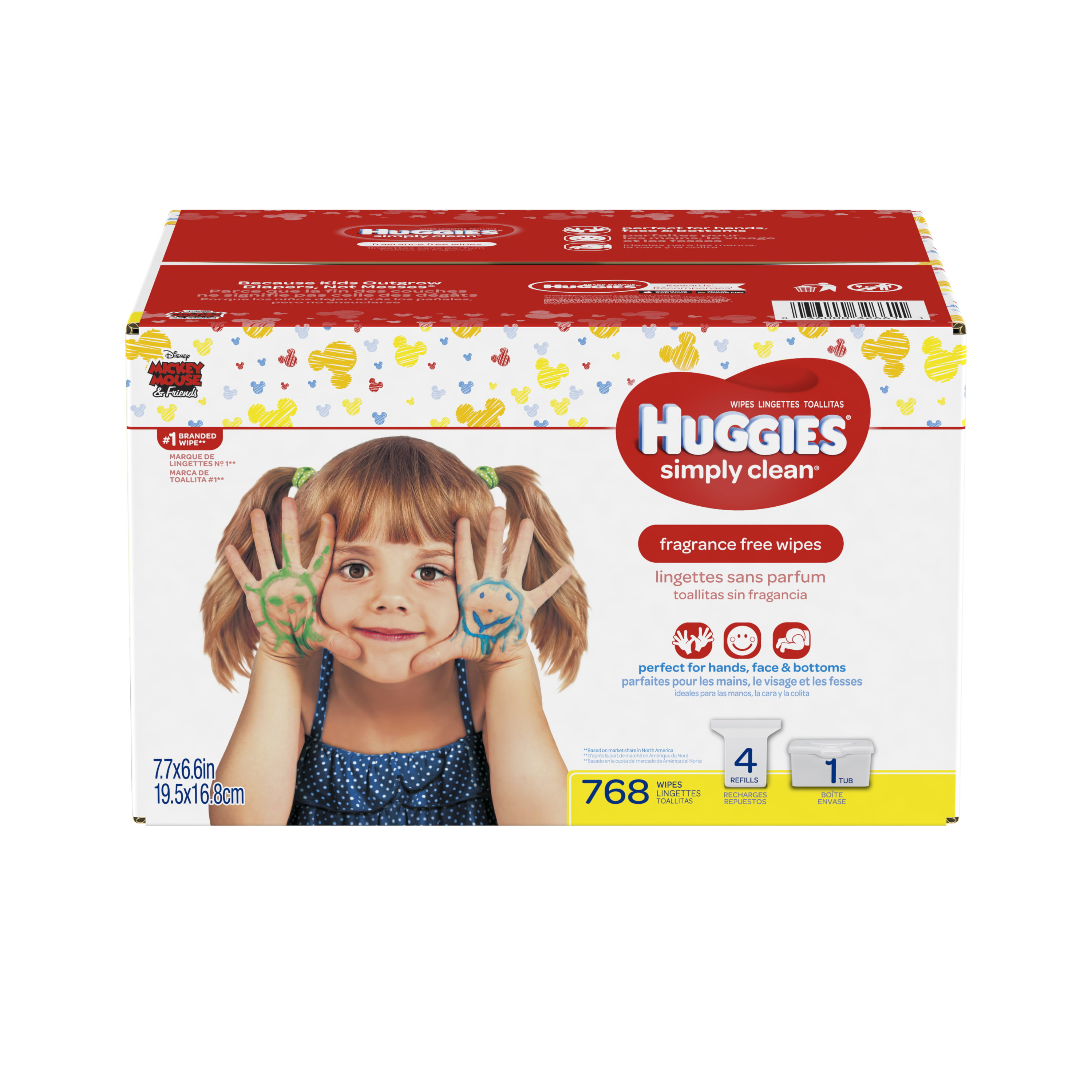 Huggies Simply Clean Baby Wipes, Unscented, 768 Count ...