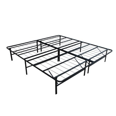 homegear platform metal bed frame mattress foundation king size