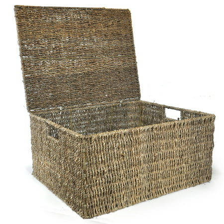 Leilani Large Sea Grass Storage Box with Lid 20in