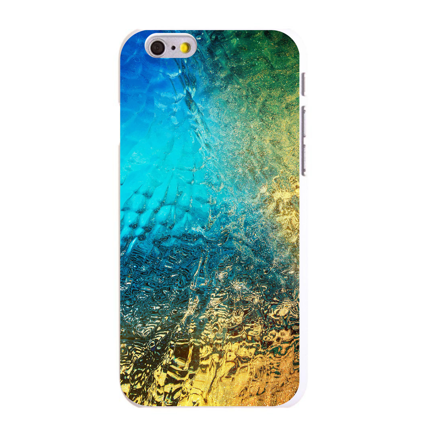 "CUSTOM White Hard Plastic Snap-On Case for Apple iPhone 6 / 6S (4.7"" Screen) - Colorful Rainbow Waterfall"