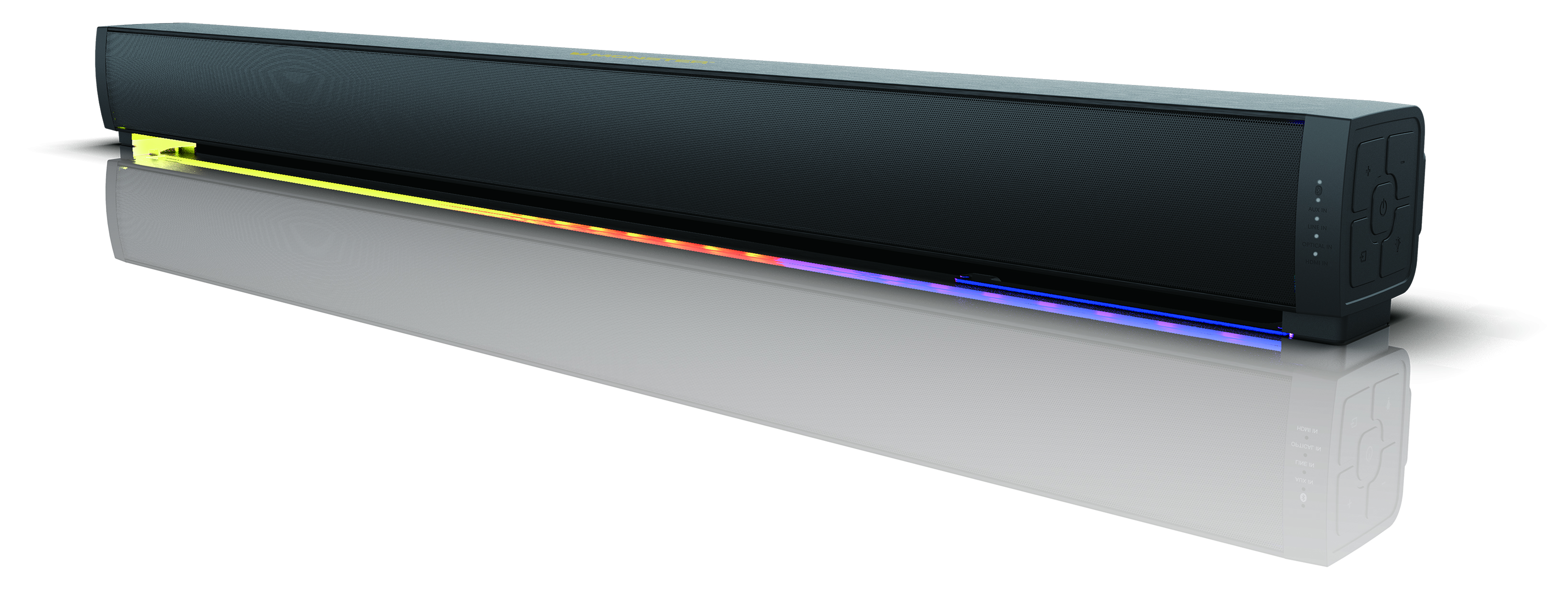"""MONSTER, 37"""" HOME THEATER BLUETOOTH SOUNDBAR WITH LIGHT SHOW AND LED ROOM ILLUMINATION, (MSB3786-EO)"""