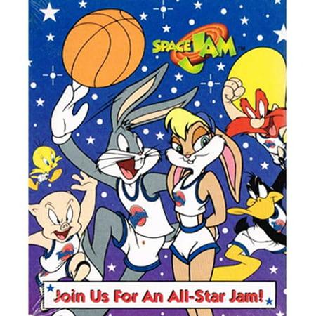 Space Jam Vintage 1996 'Bugs And Lola' Invitations w/ Envelopes (8ct) - Bugs And Lola Space Jam Halloween