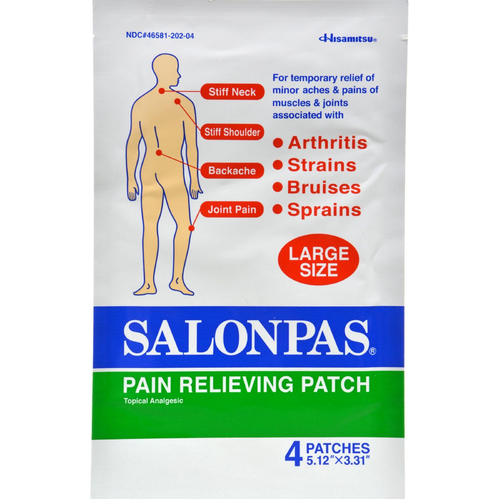 Salonpas Pain Relief Patch Large - 4 Ea