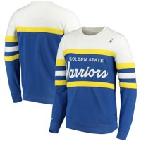 Golden State Warriors Mitchell & Ness Coaches Crew Neck Pullover Sweatshirt - Royal