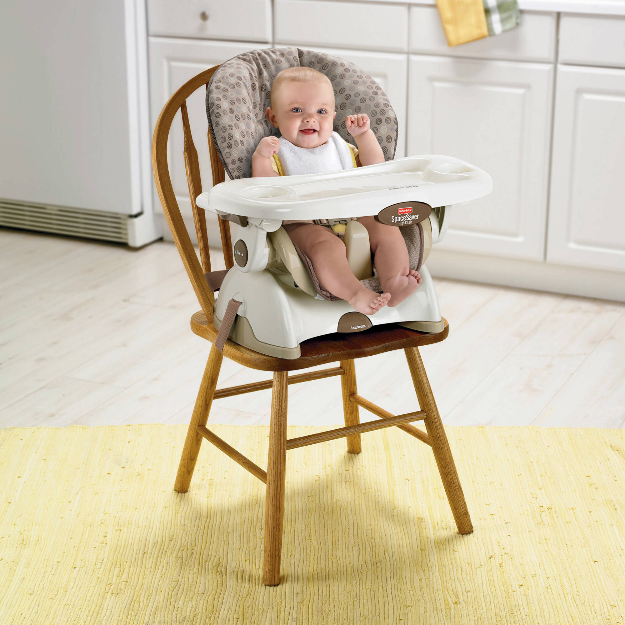 Fisher-Price Space-Saver High Chair, Swirls