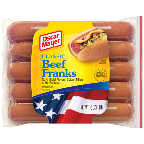 Oscar Mayer Classic Beef Franks, 10 count, 16 oz