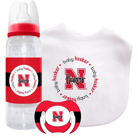 NCAA Baby Fanatic 3-Piece Gift Set, University of Nebraska Cornhuskers