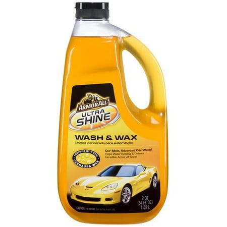 Armor All Ultra Shine Wash & Wax, 64 fluid ounces, (Best Car Wax For Sun Protection)