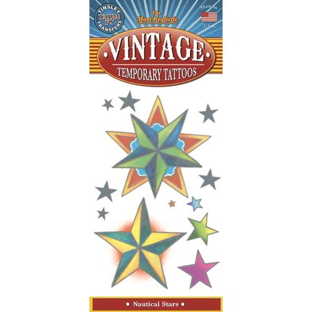 Tinsley Transfers Nautical Stars Vintage Temporary Tattoo FX