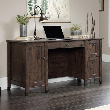 Sauder Carson Forge Computer Desk in Coffee Oak - image 14 de 18
