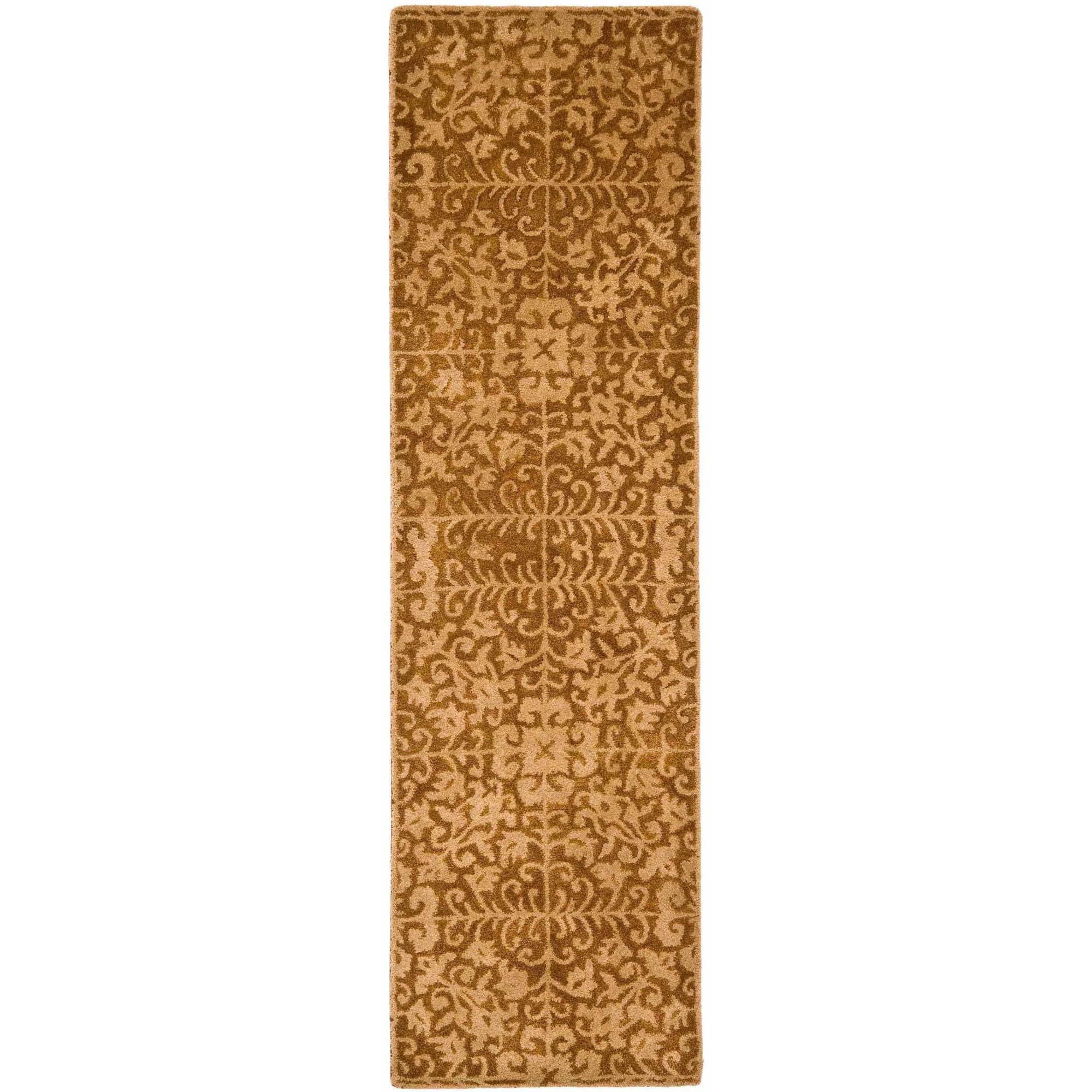 Safavieh Antiquity Richard Hand-Tufted Wool Runner Rug, Gold/Beige