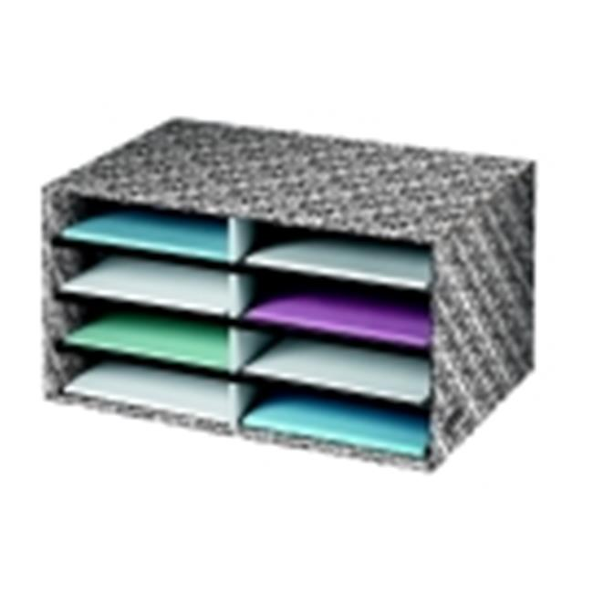 Bankers Box Literature Sorter With Brocade - White-Black