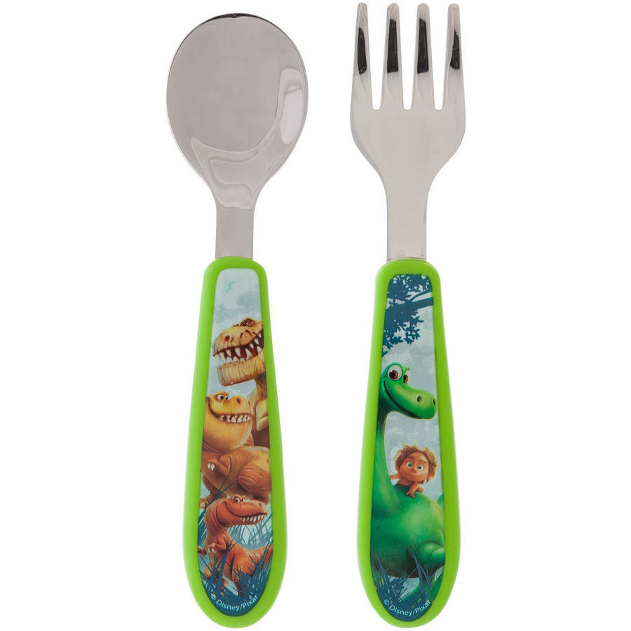 The First Years Disney/Pixar The Good Dinosaur Easy Grasp Flatware, BPA-Free