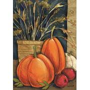 """Fall Abundance Garden Flag Pumpkins Thanksgiving Autumn 12.5"""" x 18"""""""