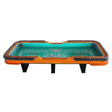 IDS Online Corp 12' Deluxe Craps Dice Table with Diamond (Rubber Dice)