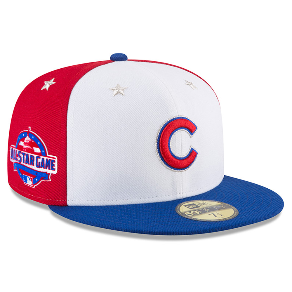 723e08d52d9 Chicago Cubs New Era 2018 MLB All-Star Game On-Field 59FIFTY Fitted Hat -  White Royal - Walmart.com