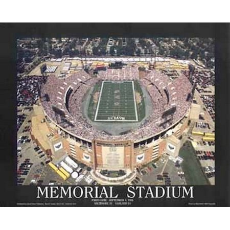 Memorial Stadium 1St Ravens Game - Balt Poster Print by Mike Smith (28 x 22) for $<!---->