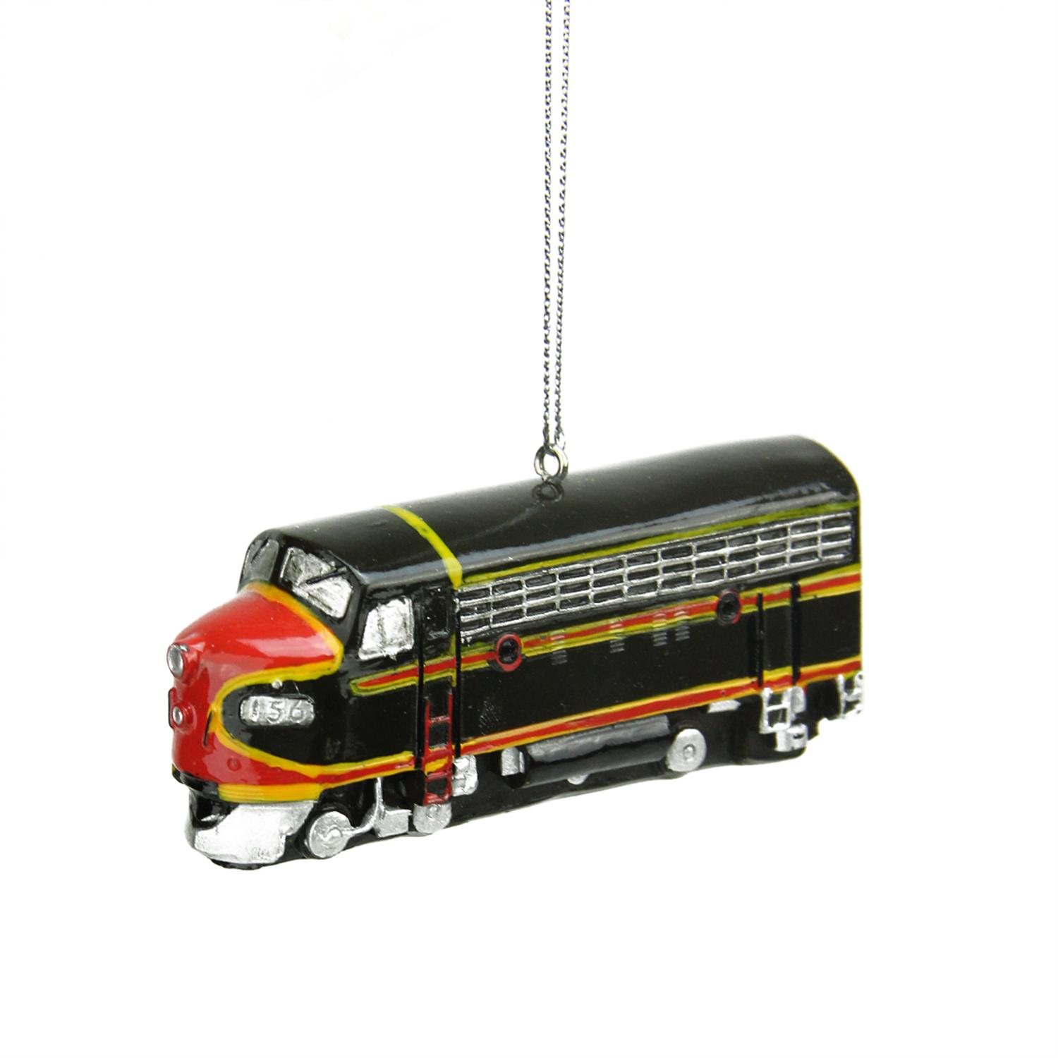 3 5 brown and red classic locomotive train replica christmas ornament