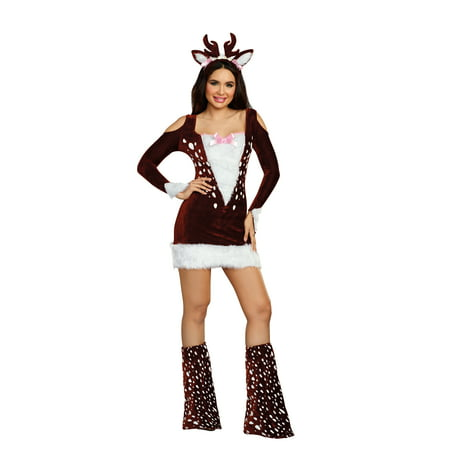 Dreamgirl Women's Cute Deer Me! Animal Costume Dress](Whitetail Deer Costume)