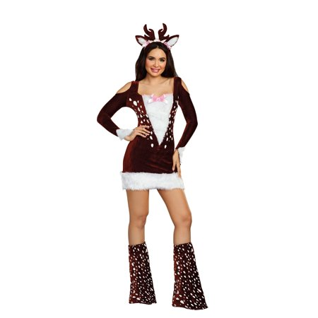 Dreamgirl Women's Cute Deer Me! Animal Costume Dress - Muppet Animal Costume