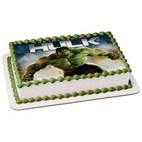 The Incredible Hulk Angry Edible Cake Topper Image