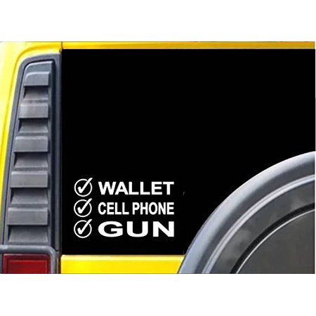 Wallet Cellphone Gun *J683* three percenter sticker ar decal 2nd amendment 2A MOLON