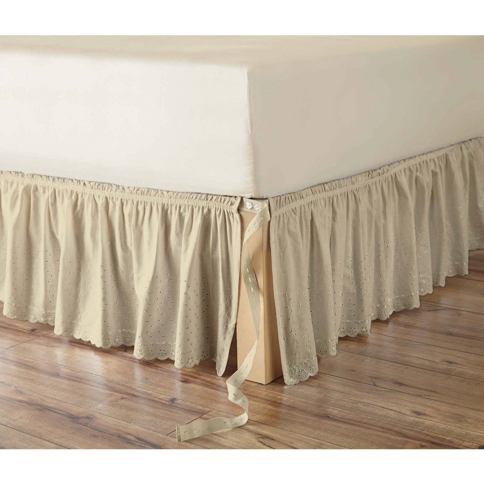 Better Homes and Gardens Eyelet Adjustable Bedskirt Walmart