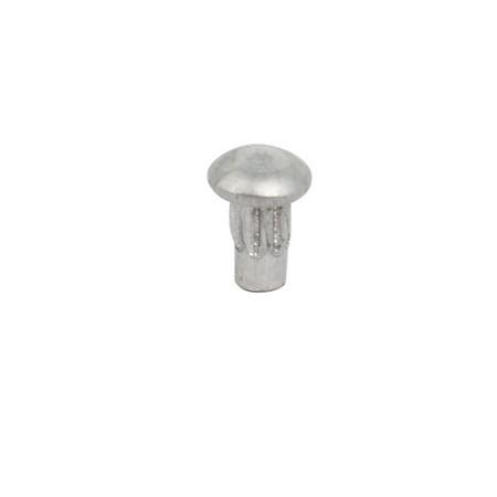 200pcs M2x4mm tige moletée solide aluminium tête ronde Rivet - image 2 de 3