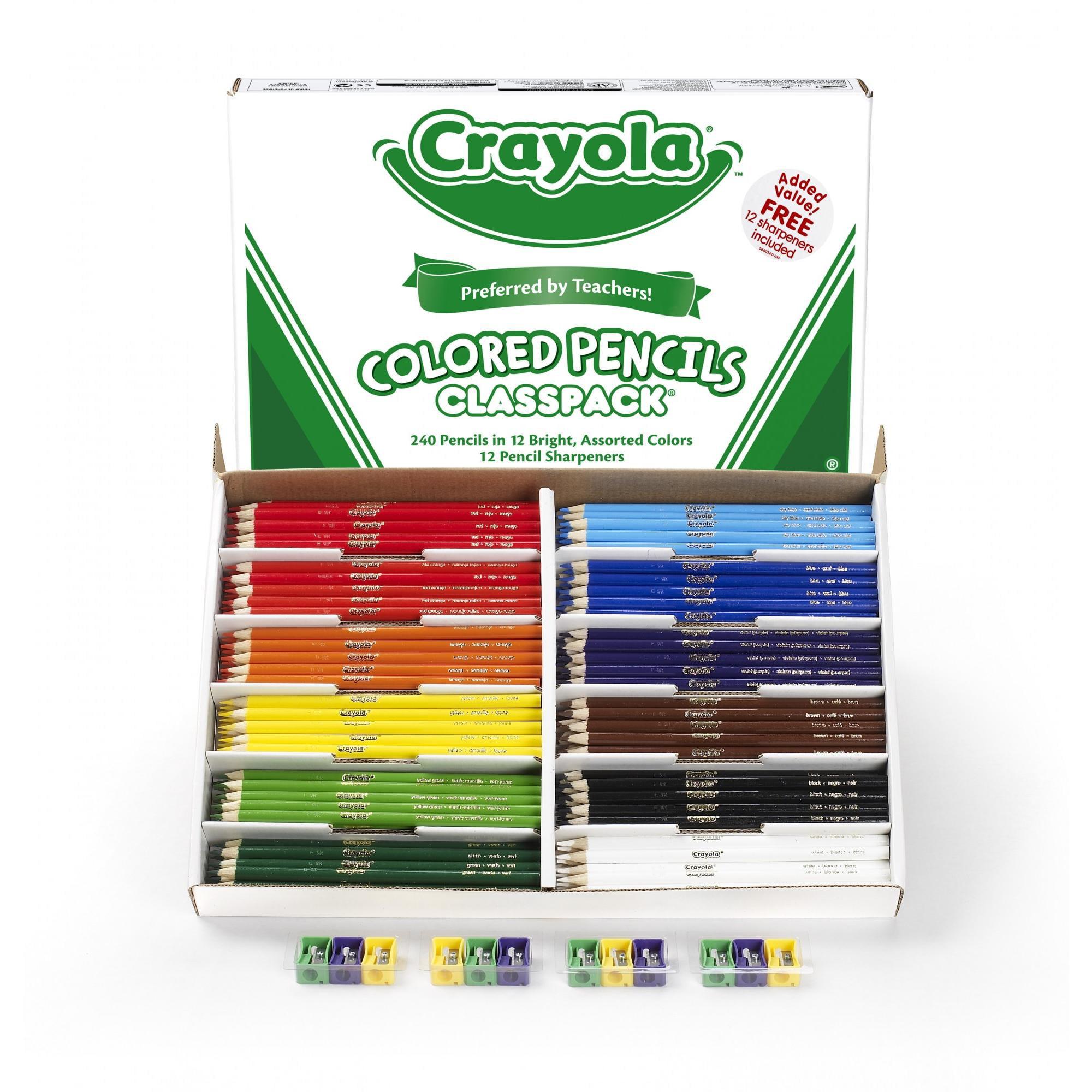 Crayola® Colored Pencil Classpack, 12 Colors, 240 Count - Walmart.com