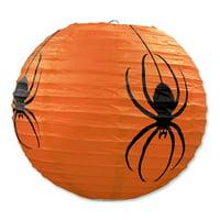 "Hanging Spider Paper Lanterns Halloween Decorations - 9.5"", 3 Count"