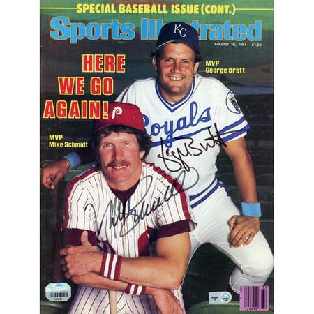 George Brett  Mike Schmidt Kansas City Royals  Philadelphia Phillies Autographed Here We Go Again Sports Illustrated