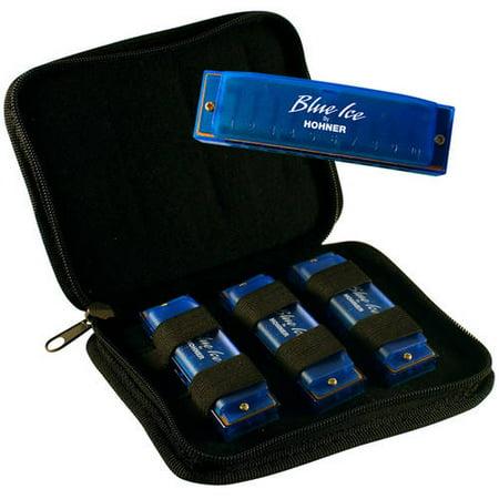 Hohner Blue Ice Harmonica 3-Pack, Keys C, D and G