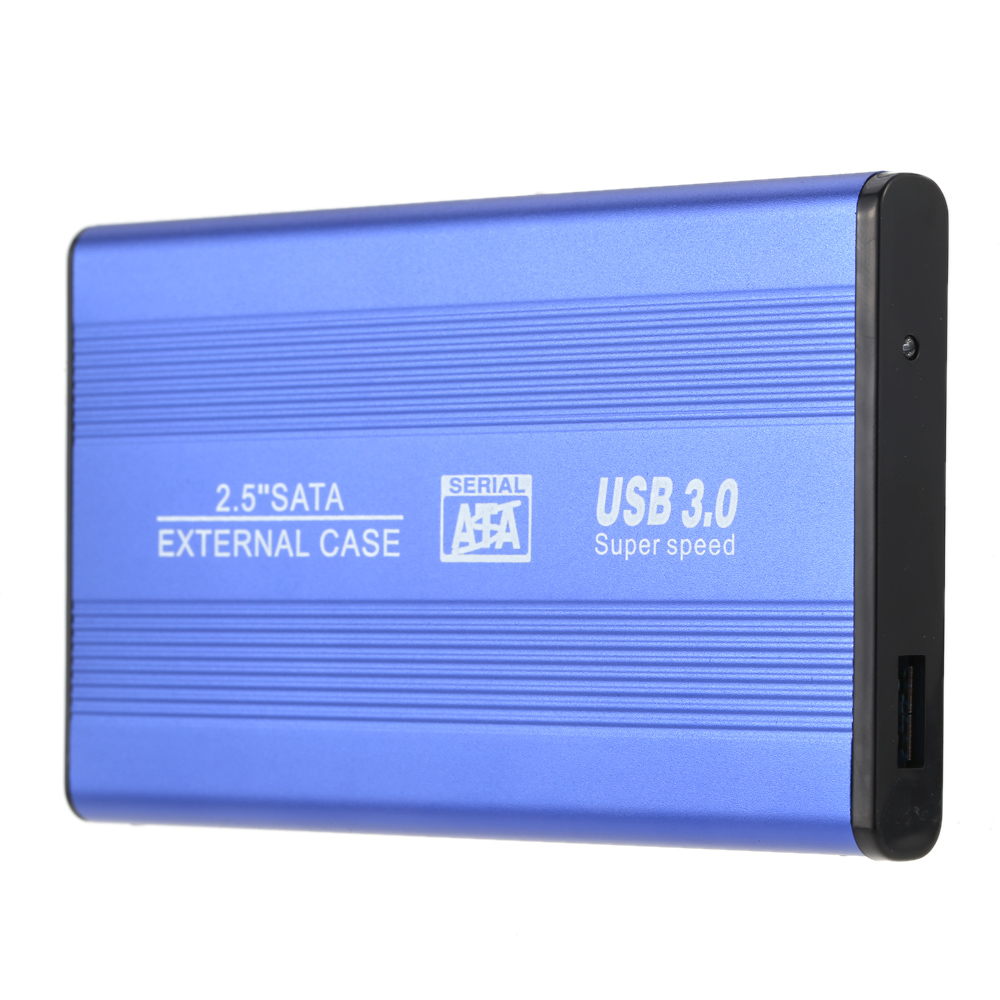 "Portable Superspeed USB 3.0 HDD SSD SATA External Aluminum 2.5"" Hard Drive Disk Box Enclosure Case up to 1TB"
