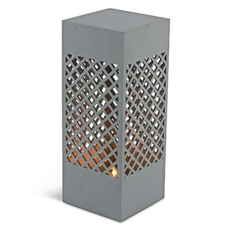 "Gerson 43823 - 10"" Square Column Lantern Battery Operated LED Light with Timer"