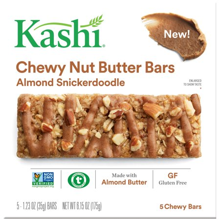 (8 Pack) Kashi Chewy Nut Butter Bars, Almond Snickerdoodle, 5