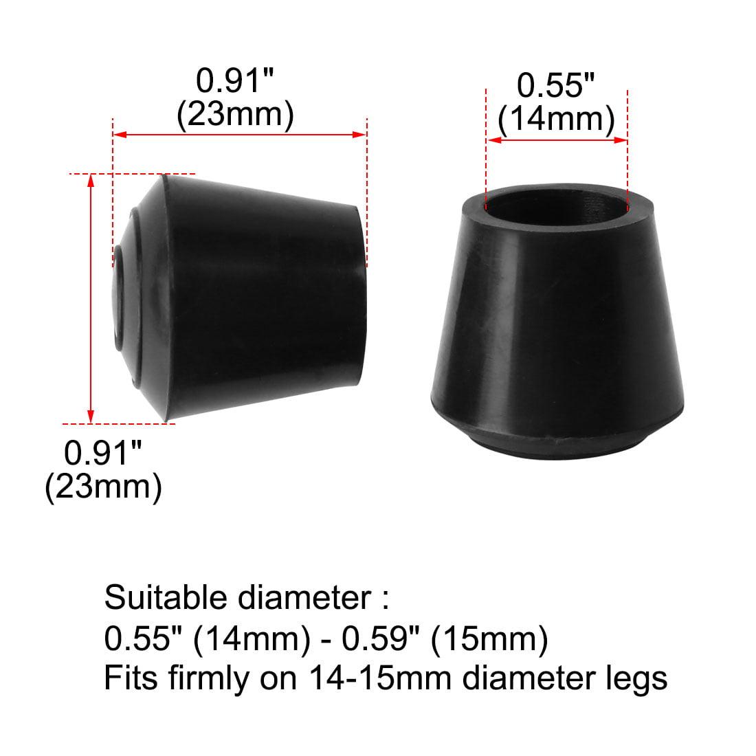"Rubber Leg Cap Tip Cup Feet Cover 14mm 9/16"" Inner Dia 40pcs for Furniture Table - image 5 de 7"