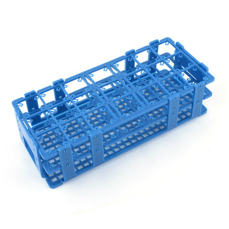 Unique Bargains Pladtic 21 Holes Storage Box Case Rack Bracket for 50ml Centrifuge Tube