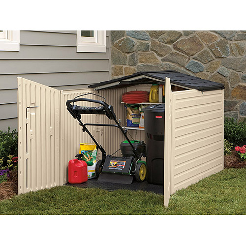 Rubbermaid 96 Cu. Ft Slide Lid Shed, Beige   Walmart.com