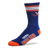 for bare feet virginia cavaliers 4-stripe deuce crew socks