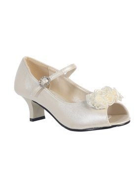 8aa642ce15fe Product Image Girls Ivory Pearled Nancy Occasion Dress Shoes 11-4 Kids. Sophias  Style