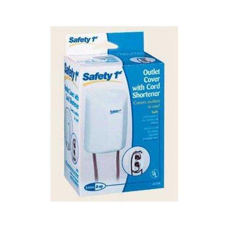 safety 1st outlet cover with cord shortener. Black Bedroom Furniture Sets. Home Design Ideas