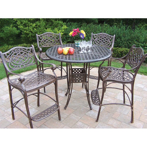 Oakland Living Elite Mississippi 5 Piece Bar Set