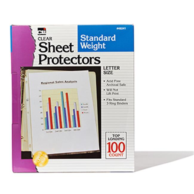 Charles Leonard CHL48241 Sheet Protectors Clear Box Of 100